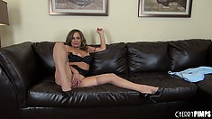 Mature slut Rebecca Bardoux still has some hot action left in her in this solo