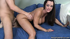 Well-disposed lady Lisa Ann gets to the most passionate moment in this scene