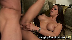 Rachel Roxxx lets his cock take a trip from her pussy to her ass