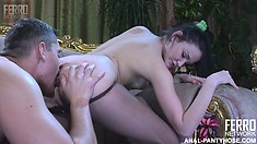 Hetty and Claudius get together for some pussy action in her nylons