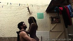 Jasmine plays the maid and can't resist her tenant Antonio and fucks him