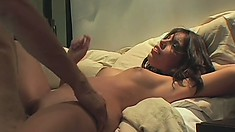 Sexy Morgan Dayne takes a pulsating jackhammer in her skilled mouth