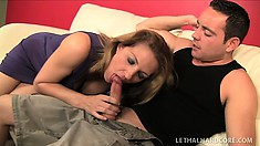 Brooklyn and Roxanne hook up with Romeo on the couch and he drills their pussies