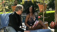 Sexy Jada Fire gets used to the taste of wonderful white doniker