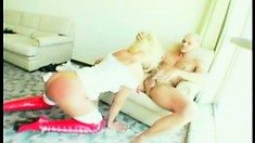 Busty Latina honey licks his ass, rides him and fucks to get a mouthful