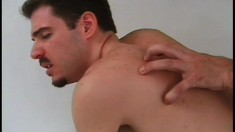 Torrid ass-fucker is porking the tight ass of hairy stud gently