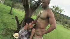 Muscular black slave turns the tables on his nasty white master