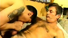Sensual gay couple enjoy some mutual cocksucking in steamy scene