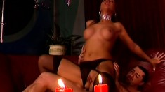 Nasty brunette babe gets on all fours to take some brutal anal sex