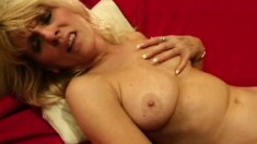 Two naughty mature blondes provide to each other overwhelming pleasure
