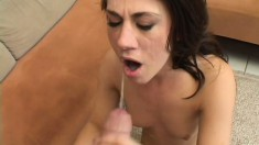 Hot Amber Ashley bounces her sexy body on a long throbbing cock