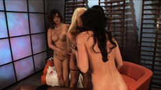 Candy Manson engages in a steamy lesbian fuck fest with two girls