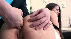 Sexy hunk gets into a fuck fest with an insatiable piece of ass