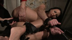 Delightful Chanel plays out her bondage and lesbian fetish fantasies