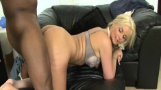 Big breasted blonde cougar Phoenix Marie has a passion for black cock