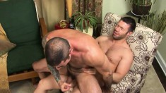 Two lustful studs exchange blowjobs before engaging in hard anal sex
