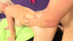 Stacked blonde Gigi Allen fucks a raging dick and releases her juices