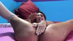 Delightful redhead Savannah has a black stud taking care of her needs