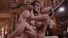 Big Tit Marsha May Meets In A Cabin To Eat Meat And Get Nailed