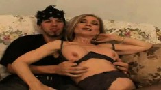 Old pro Nina Hartley trades head with Tucker and then humps him