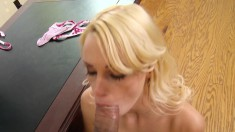 Beautiful blonde teen has a hung Asian teacher banging her honey hole