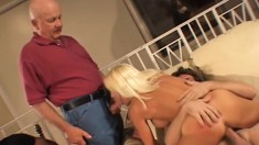 Attractive blonde housewife with a magnificent ass begs to be stuffed