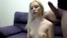 Horny Blonde Feels Better Giving Big Cock Hot Blowjob