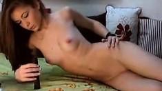 Busty Goth Teen Strip Masturbate On Webcam