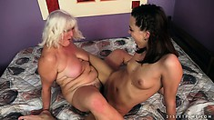 Judi in a young and old lesbian face sitting and tribbing episode