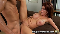 He pounds the pussy of redheaded mom Joslyn James and licks her