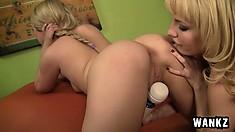 Chloe Lynn gets finger and toy fucked by MILF Kiara Diane until she cums hard