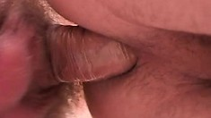 Bleached blonde twink has some fun with his handsome boss' cock
