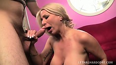 Horny hot Isabella Rossa gives her mature body up to a young buck