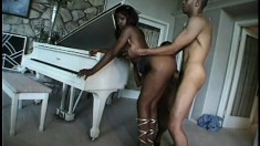 Impressive black prostitute do anything for a delicious white penis