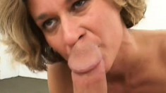 Experienced blonde lady needs to feel some hard meat in every hole
