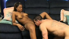 Eager black babe takes some doggystyle boning and loves every moment