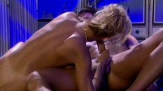 Horny blonde nurse wakes her patient to give him some medicine