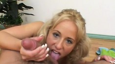 This young blondie is a real cocksucking expert and she wants to show it
