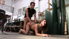 Horny Gabrielle is excited to get all her holes filled with a cock