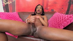 Sensual black shemale wants to turn you on with her hard cock