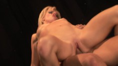 Exciting blonde with lovely boobs gets her aching snatch drilled good
