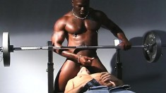 Muscled Black Stallion Offers A Cute White Boy A Rough Anal Pounding