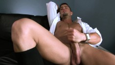 Seductive young hot guy is desperate to play with his python