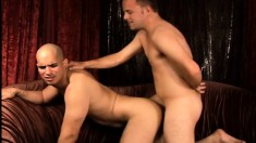 Two Lustful Straight Men Take Turns Drilling Each Other's Tight Asses