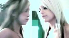 Two Webcam Lesbians Having Fun And Masturbates