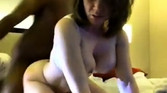 Busty Amateur Milf Gets Fucked In Doggystyle By Black Dude