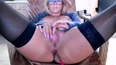 Ravishing Blonde In Solo Masturbation