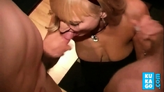 Dirty English slut - Bukkake party 03