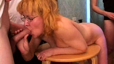 German Milf In Privat Amateur Gangbang With 4 Young Men