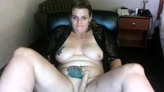 Fat whore with big boobs fucked doggy style